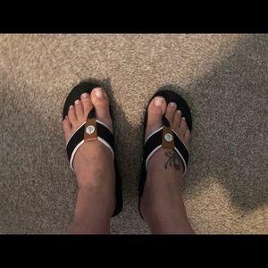 Ralph Lauren wedge flip flops